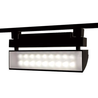 black track lighting. wac lighting 42w 3500k led wall washer track head finish black collection