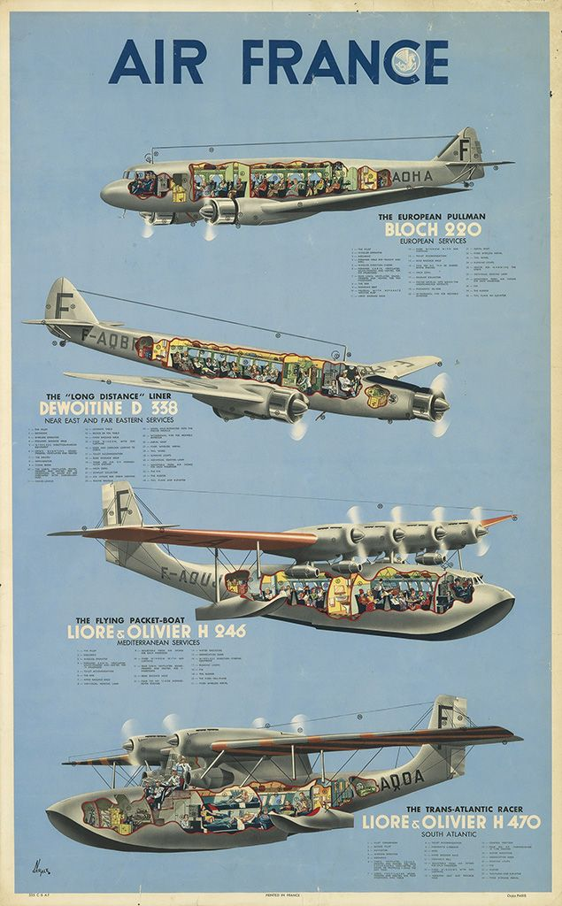Air France - 1938 - illustration de N. Geral -