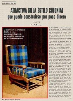 ATRACTIVA SILLA DE ESTILO COLONIAL MARZO 1972 ABRIL 1972 001 copia