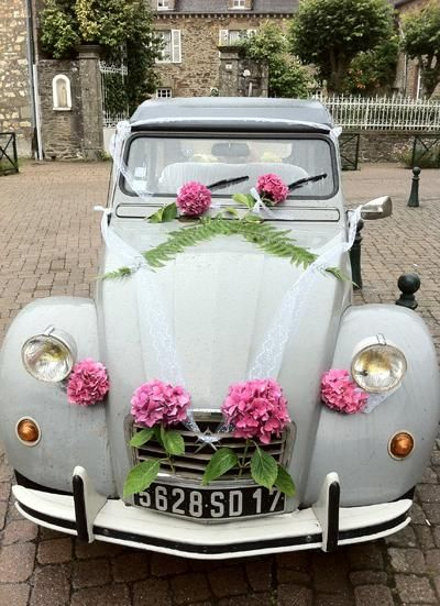 Une d co pour voiture de mariage 2cv pinterest cars for Decoration maison automobile