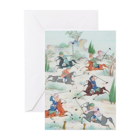 ANCIENT POLO Greeting Card on CafePress.com