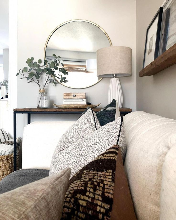 home decor ideas for living room with black sofa #…