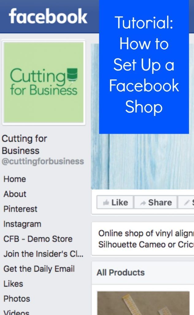 How to set up your Facebook shop - Great for Silhouette Cameo or Cricut Explore small business owners - by cuttingforbusiness.com