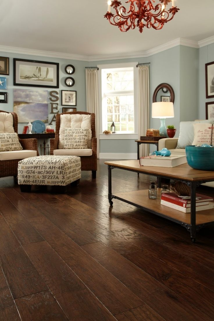 Love the wall color and the hardwood floor!