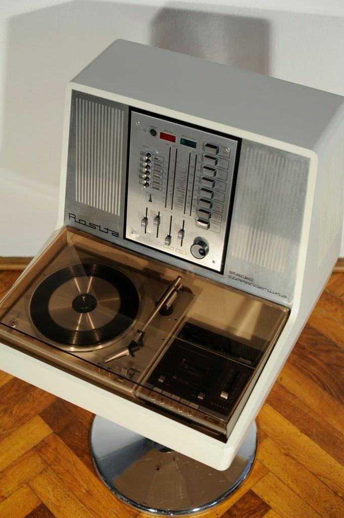70s Vtg Rosita Commander Luxus Philips Record Player