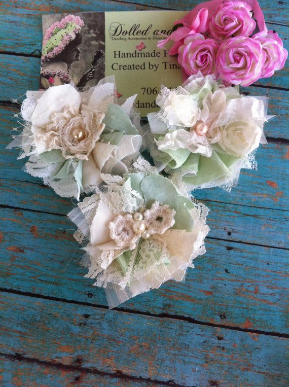Hey, I found this really awesome Etsy listing at https://www.etsy.com/listing/223337918/set-of-3-mint-green-ivory-linen-lace
