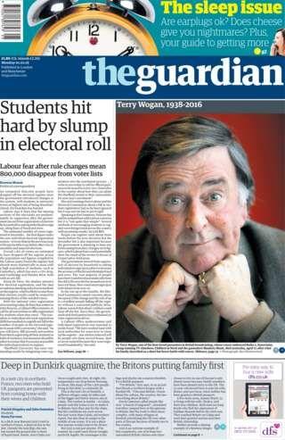 Sir Terry Wogan honoured in newspaper headlines - BBC News