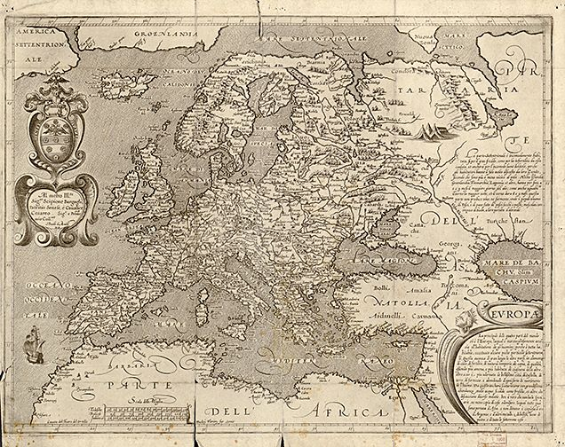 1600 Antique European Map Museum Outlets European Map Europe Map Old Map