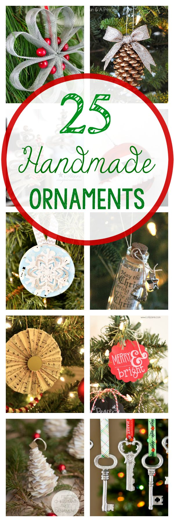 Here are 25 handmade Christmas ornaments that you can make and decorate with this holiday season.