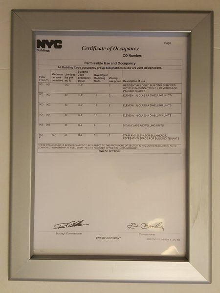 CERTIFICATE OF OCCUPANCY FRAME (HEAVY DUTY) 8.5 X 11 | Property ...