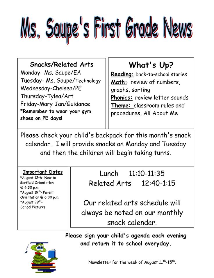 Teacher Weekly Newsletter Templates Free on fourth grade, free printable preschool, for business, downloadable classroom,