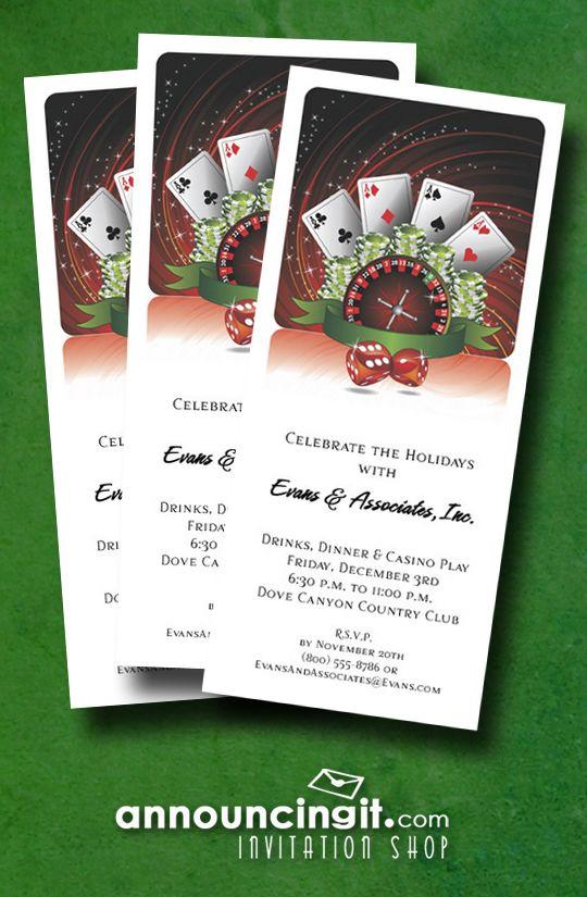 Casino Play | Christmas and Holiday Invitations ...