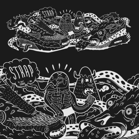 illustration - Coté Escrivá - The Mushroom Company - black and white