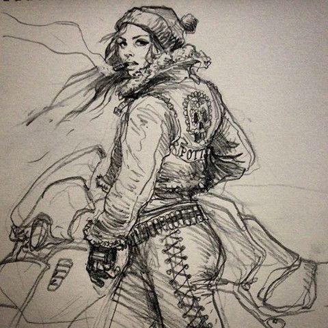 Biker Girl by Karl Kopinski
