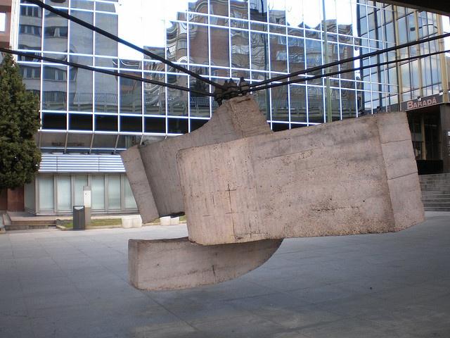 Eduardo Chillida 'Lugar de encuentros III' o 'La sirena varada' 1972,  Paseo de la Castellana, Madrid by hanneorla, via Flickr