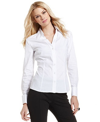 Inc international concepts top long sleeve french cuff for Where to buy womens button up shirts