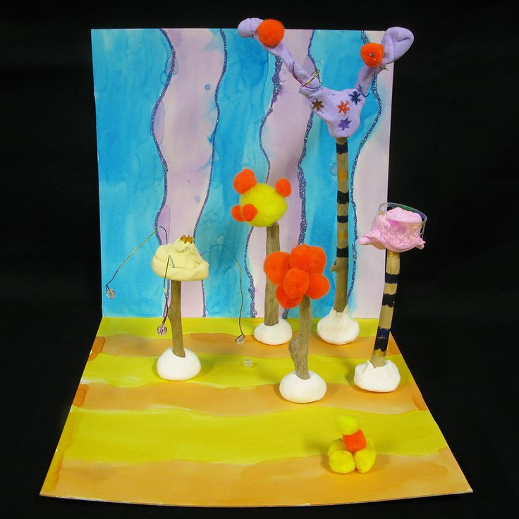 Artist Focus - Dr Suess and artists Pip and Pop - Fantasy Forest - sculpture using drift wood, paper clay, craft materials and cardboard. Focus on composition, colour and 3D form. Years 3 and 4