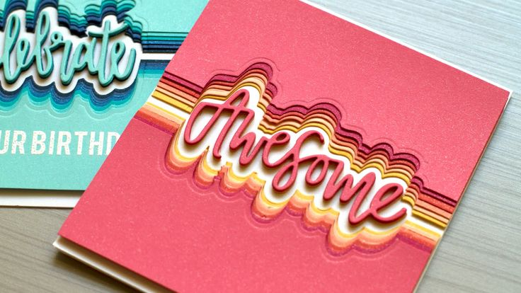 Shows how to create an offset stacked die cut look. ** SUPPLIES ARE LINKED TO STORES BELOW ** For more info: http://jmink.me/2b9o5T1…