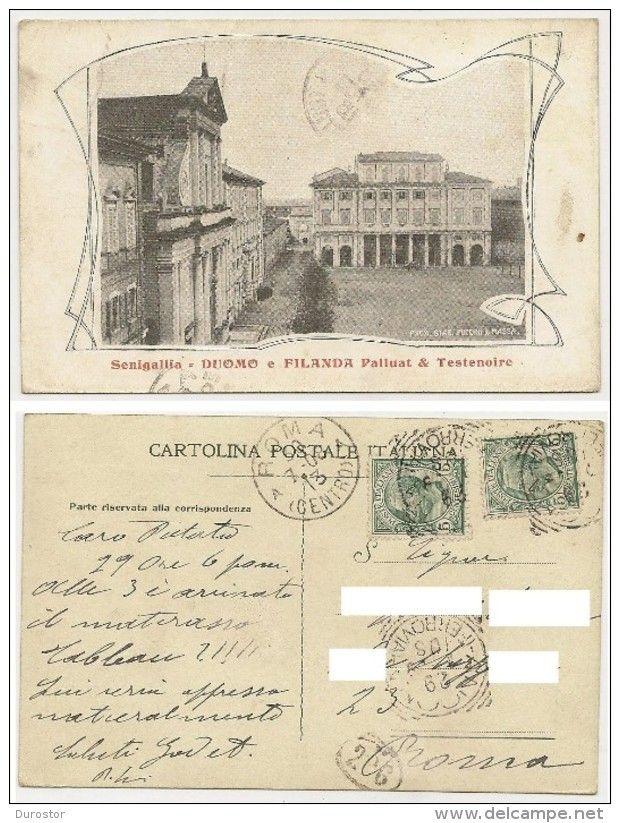 Senigallia Duomo e Filanda Palluat & Testenoire, viaggiata il 30.7.1908