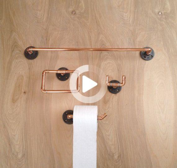 Industrielles Badezimmerzubehör Set 4 PC Handtuchhalter