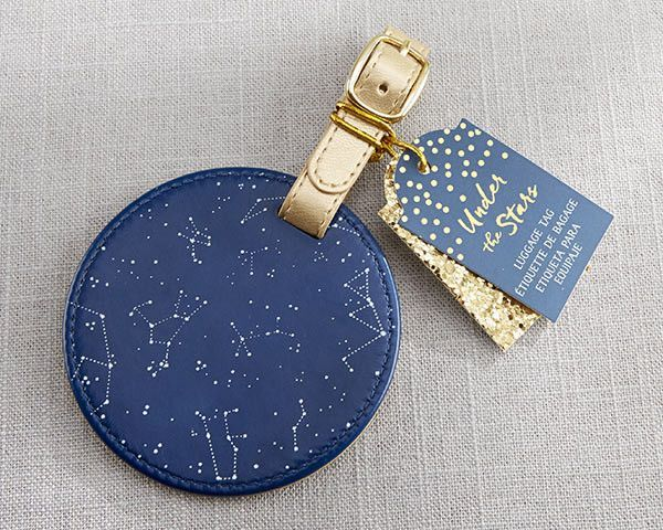 We can't believe our eyes - this is one of the most beautiful wedding favors under the stars! This Under the Stars Constellation Luggage Tag is the perfect thing to give to guests after your moon and