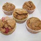 Photo de recette : Muffins complets à la fraise et à la banane