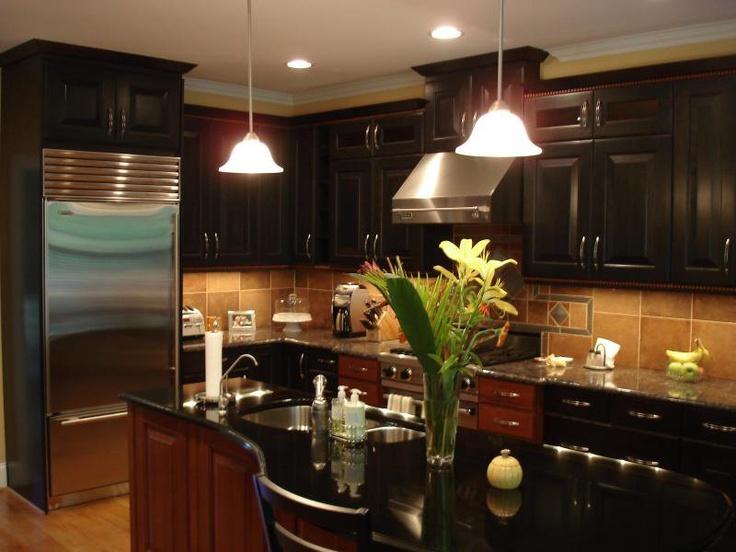love the dark kitchen very sleek at jeane kitchen and bath design
