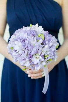 Lavender Freesias Bridesmaid Bouquet