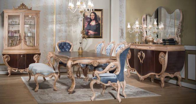 Angel Lüks Klasik Yemek Odası Takımı.  #YemekOdası #DiningRoom #Decoration #Ev #Dekorasyon #Moda #Mobilya #Furniture