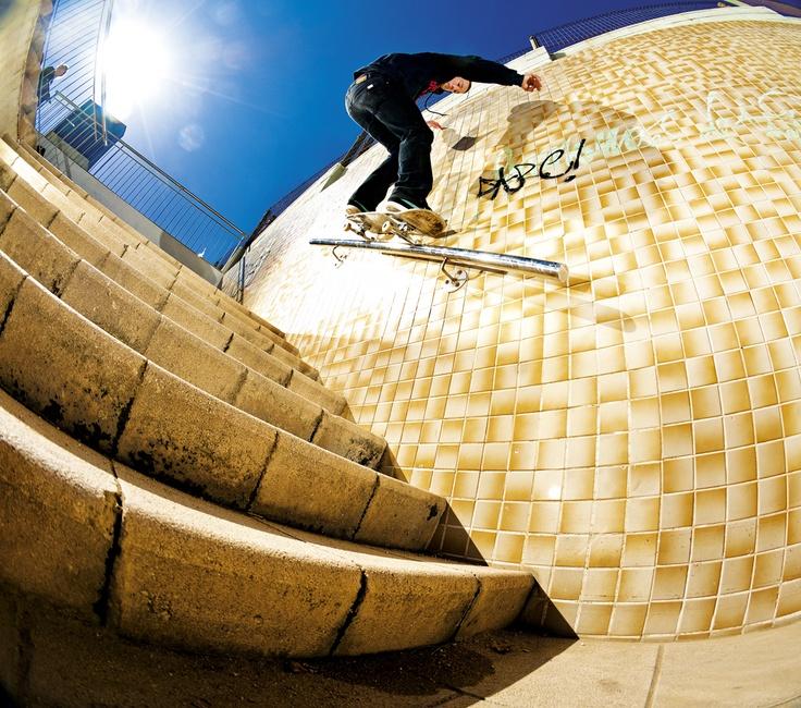 ROURA fs 50-50 rail on the wall. #XK www.xkaters.com