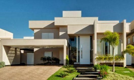 Fachada casa p direito duplo arquitetura em 2019 - Pinturas modernas para casas ...