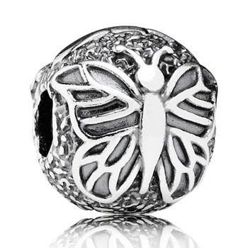 FIXED BEAD PANDORA VINTAGE STERLING SILVER BUTTERFLY - Jons Family Jewellers