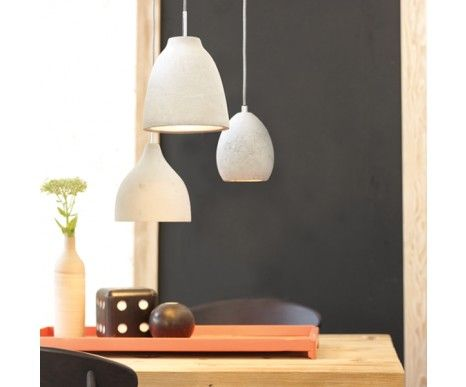 Tadao 1 Light Small Water Drop Pendant in Concrete | Pendant Lights | Lighting NMS - over dining room table?