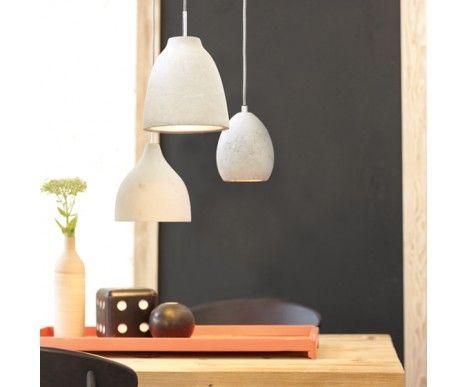 Tadao 1 Medium Point Top Pendant in Concrete | Modern Pendants | Pendant Lights | Lighting