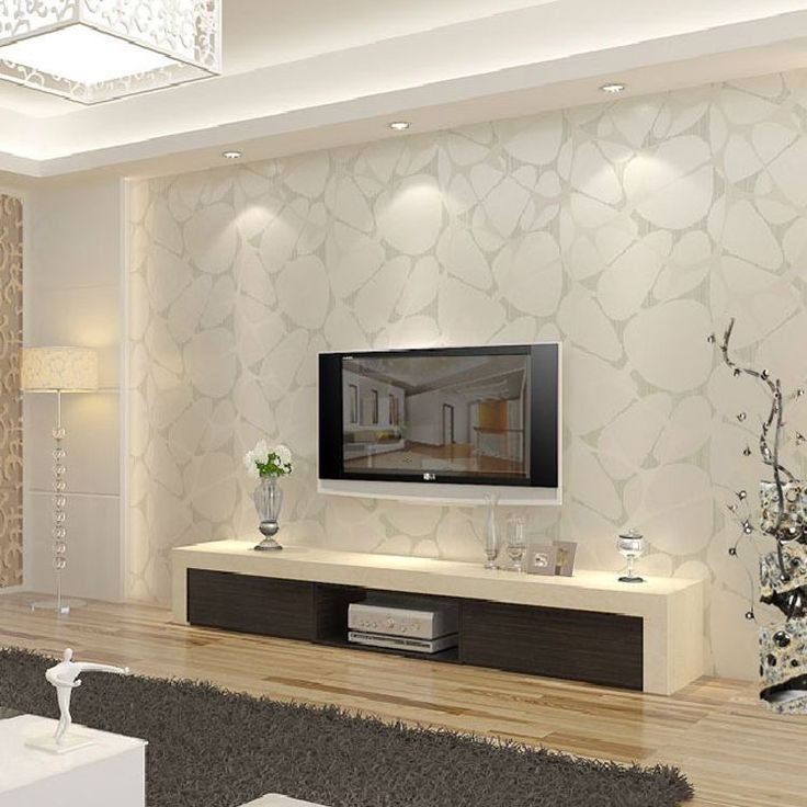 T Non Woven Wallpaper Modern Brief Pearl Silver Bird Nest Tv Background  Wall Wallpaper InWallpapers Fromu2026 Part 89