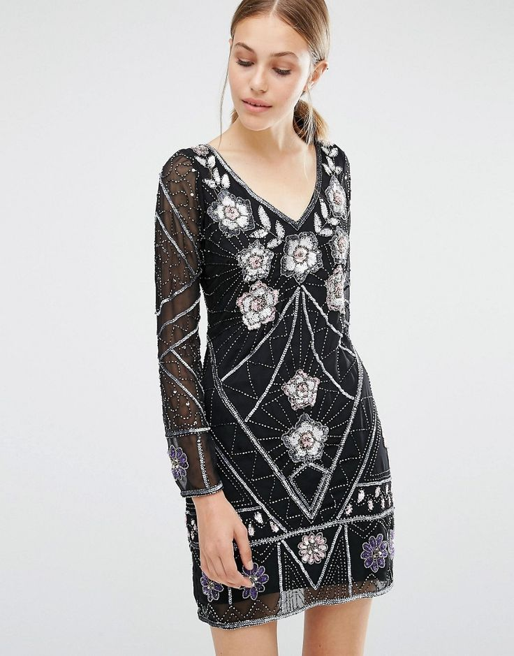 Image 1 ofFrock and Frill Embellished Mini Dress