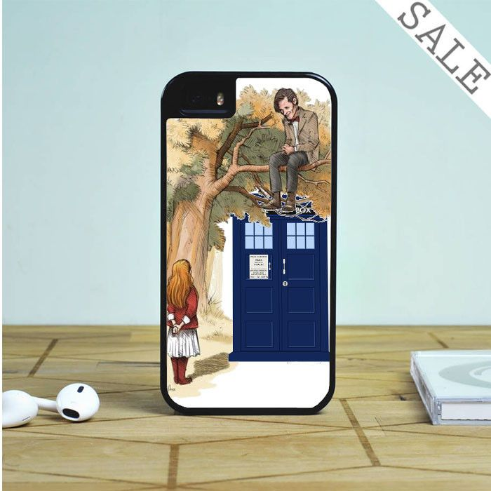Alice in wonderland and tardis doctor who For iPhone | Samsung Galaxy | HTC Case