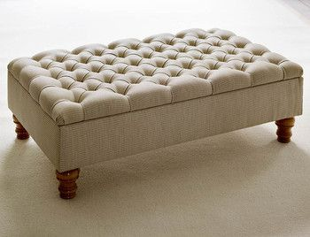 Footstools with storage - The Dormy House You can choose from lots of fabrics or even send your own