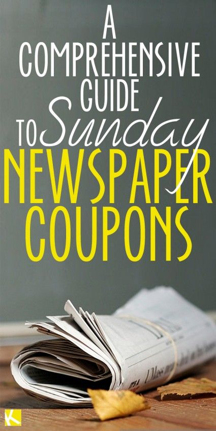 A Comprehensive Guide to Sunday Newspaper Coupons