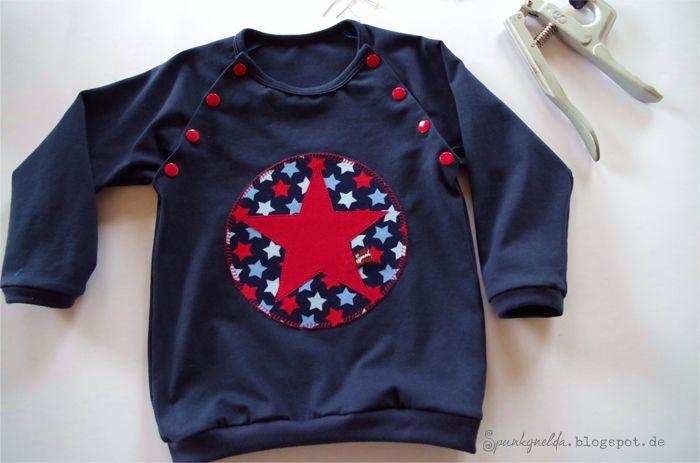 FIne+NAlu: Raglan-Shirt mit knöpfbaren Nähten