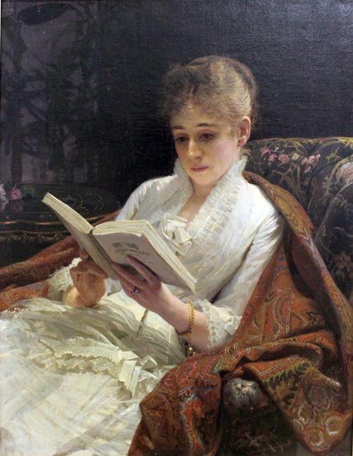 ✉ Biblio Beauties ✉ paintings of women reading letters & books - Ivan…