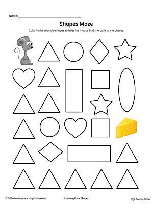 105 best Shapes Worksheets images on Pinterest | Preschool shape ...