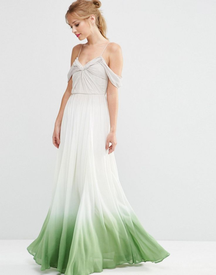 Image 1 of ASOS SALON Ombre Ruched Maxi Dress