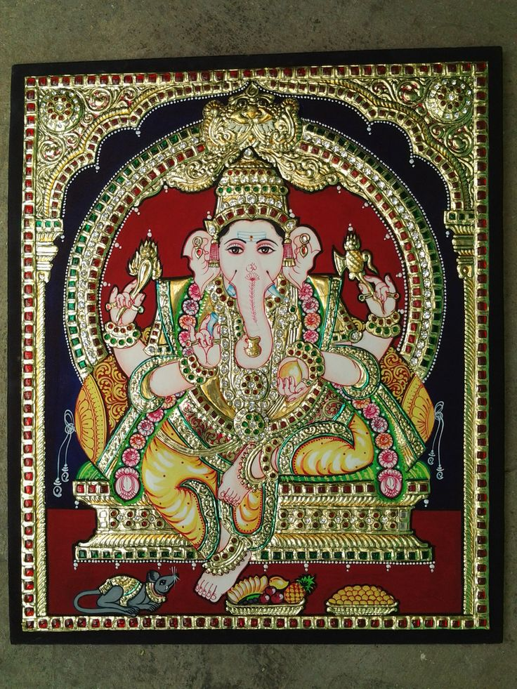 Tanjore Painting of Ganesha