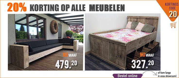 steigerhouttrend actie korting op alle meubelen