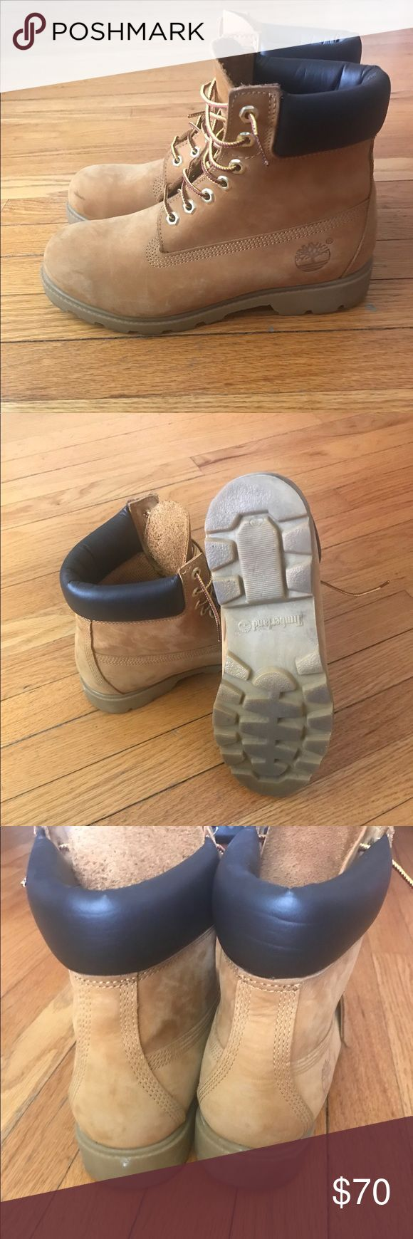 Men's Wheat Timberland boots Good condition, size 8 in men's Wheat Timberland Boots Timberland Shoes Boots