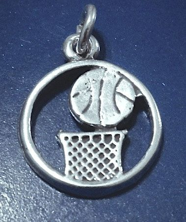 Sterling Basketball Charm Basketball Jewelry by JSueSelling, $6.00