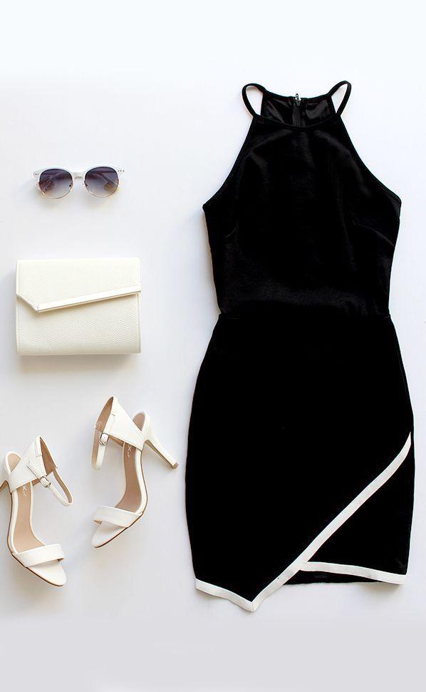 Vestido negro. Verano.  Dress