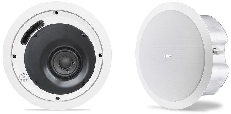 "EXTRON SI-3CT LP Full-Range Ceiling Speakers with 4"" Low Profile Back Can and 70/100 V Transformer"