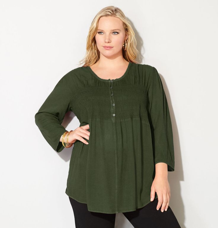 Shop our popular peasant tops in a new denim color like the plus size Smock Striped Peasant Top available online at avenue.com. Avenue Store
